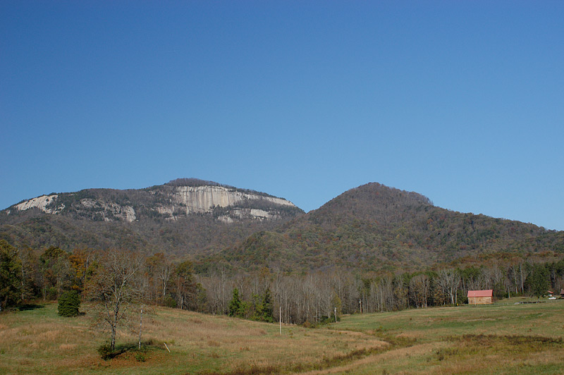 Table Rock in Pickens, SC viewed from the meadow