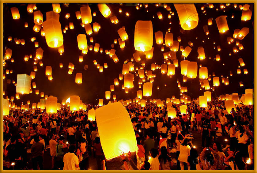 Buddihsm /floating lanterns for peace on earth.