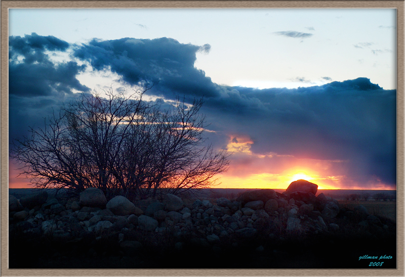 Gilly Cairn Sunset