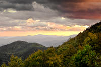 Sunset on the Blue Ridge Mts