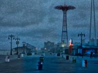 Coney Island twilight June 1, 2012